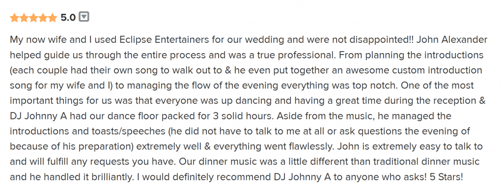 Dj Johnny A, Philadelphia Wedding DJ