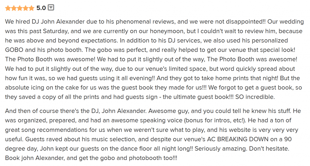 DJ Johnny A, Philadelphia DJ for Weddings