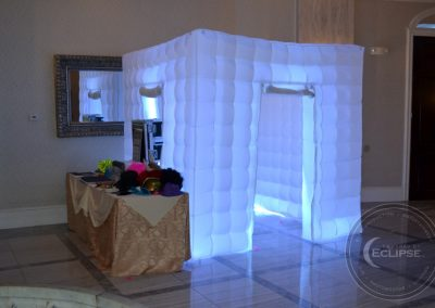 the waterfall wedding venue photo booth rental