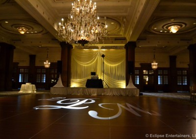Gobo design, monogram projection, philadelphia, pa