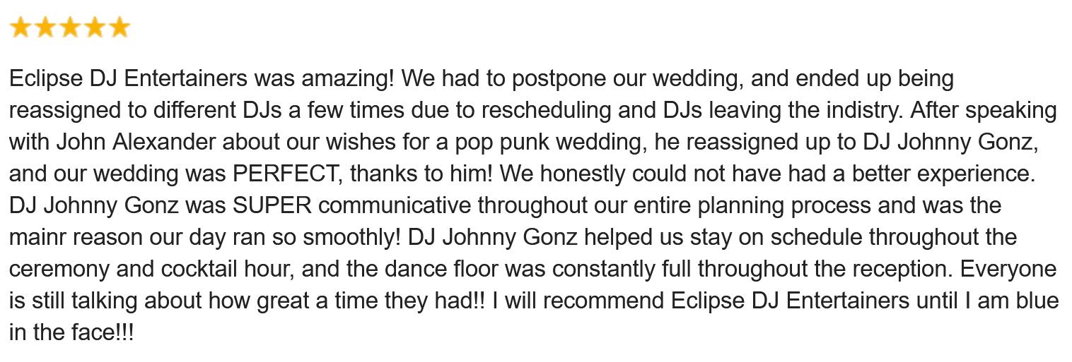 DJ Johnny Gonz Review